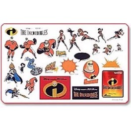 tarjeta bordado losincreibles