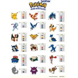 tarjeta bordados pokemon