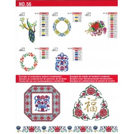 bordado flores motivos chinos