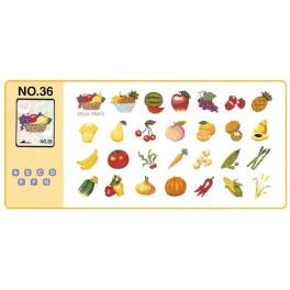 bordado frutas verduras