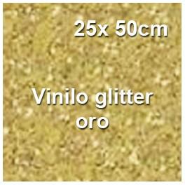 vinilo textil glitter oro